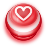 96x96px size png icon of Button Red Love Heart