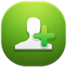 96x96px size png icon of add contact