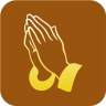 96x96px size png icon of Christianity Praying Hand Symbol
