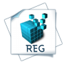 96x96px size png icon of filetype reg