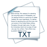 96x96px size png icon of filetype txt