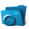 96x96px size png icon of folder clock