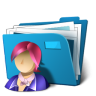 96x96px size png icon of folder users