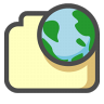 96x96px size png icon of Internet document
