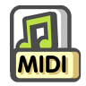 96x96px size png icon of Midi sequence