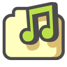 96x96px size png icon of My music