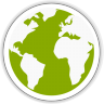 96x96px size png icon of midori globe