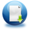 96x96px size png icon of file download