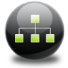 96x96px size png icon of sitemap