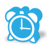 96x96px size png icon of alarm clock