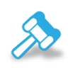 96x96px size png icon of auction hammer