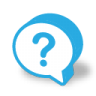 96x96px size png icon of button bubble question