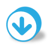 96x96px size png icon of button round arrow down