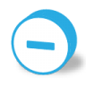 96x96px size png icon of button round minus