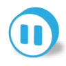 96x96px size png icon of button round pause