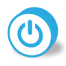 96x96px size png icon of button round power