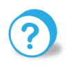 96x96px size png icon of button round question