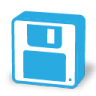 96x96px size png icon of floppy save