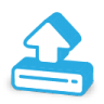 96x96px size png icon of load upload