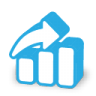 96x96px size png icon of stats up