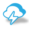 96x96px size png icon of weather bolt thunder