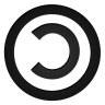 96x96px size png icon of copyleft