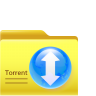 96x96px size png icon of torrent folder