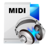 96x96px size png icon of filetype midi