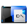 96x96px size png icon of folder msdos application