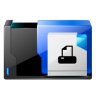 96x96px size png icon of folder printer fax