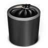 96x96px size png icon of Trash Black Full