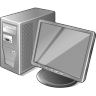 96x96px size png icon of 3 Gray Computer