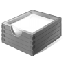 96x96px size png icon of 3 Gray Paper Box