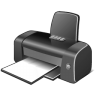96x96px size png icon of 3 Gray Printer