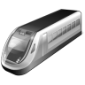 96x96px size png icon of 3 Gray Train
