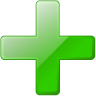 96x96px size png icon of add