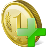 96x96px size png icon of coin add