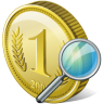 96x96px size png icon of coin search
