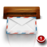 96x96px size png icon of wood mail
