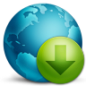 96x96px size png icon of network download
