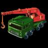 96x96px size png icon of 8 Wheel Crane