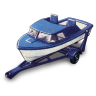 96x96px size png icon of Boat and Trailer