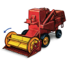 96x96px size png icon of Combine Harvester with Movement