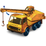 96x96px size png icon of Dodge Crane Truck with movement