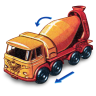 96x96px size png icon of Foden Concrete Truck with Movement