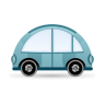 96x96px size png icon of car blue