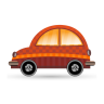 96x96px size png icon of car orange