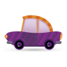 96x96px size png icon of car purple