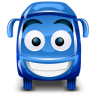 96x96px size png icon of bus blue