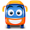 96x96px size png icon of bus orange